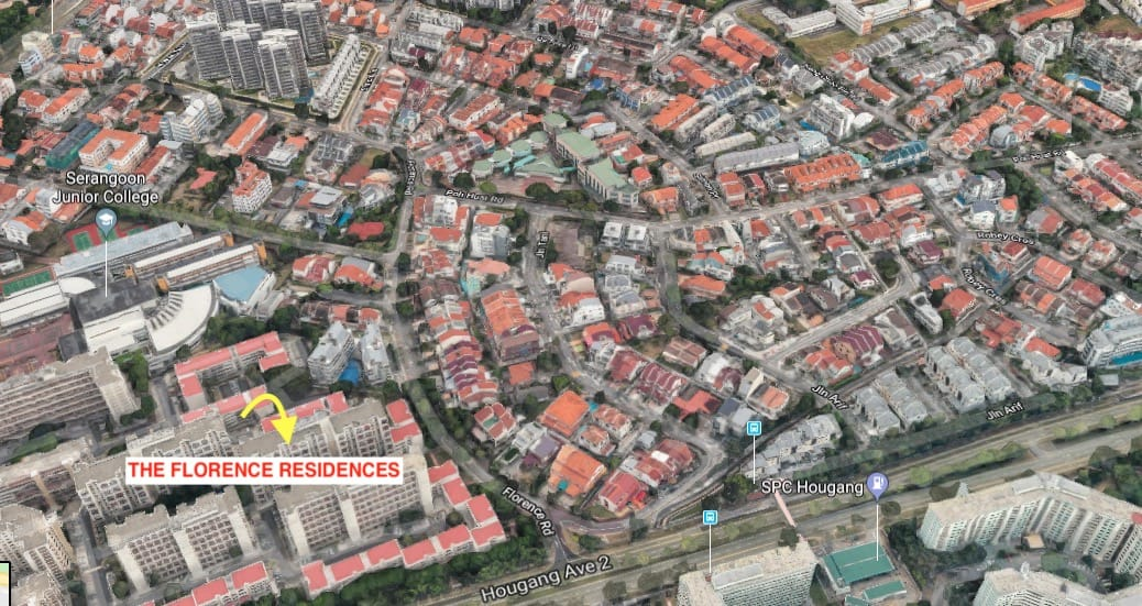 The Florence Residences Location Map Bird Eye view